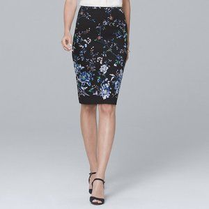 NWT White House Black Market Floral Pencil Skirt